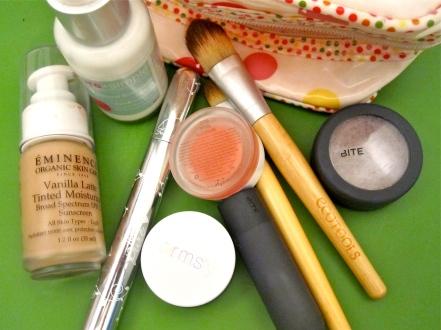 Makeup bag cleanup