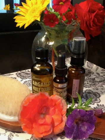 Natural oils and skin brushing is sometimes all you need to take care of your skin.