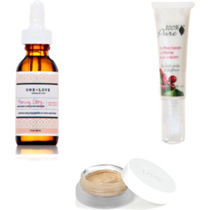 "One Love Organics Morning Glory Serum, 100% Pure Coffee Bean Eye Cream, RMS ""Un"" Cover-Up"